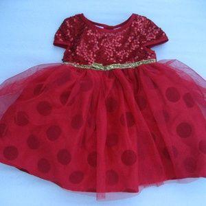 NWOT Blueberi Dress 12M Christmas Red Dress Sequin